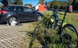 Na parkingu w Ostravicy