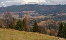 Zjazd z Muńcoła zielonym szlakiem do Ujsół