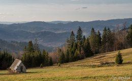 Widok z Hali Boraczej na południowy-zachód