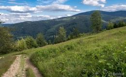 Górny odcinek czarnego szlaku z  Kotarnicy do Sopotni Wielkiej