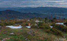 Widok z Baraniej Góry na wschód