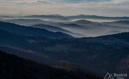 Widoki na zachód z Przełęczy Pawlusiej