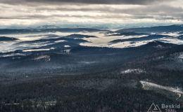 Widok na południe  z Hali Gawłowskiej