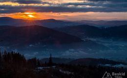 Zachodzące słońce spod Prusowa