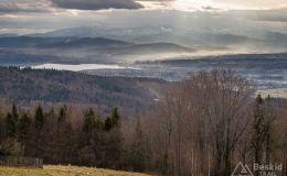Widok z łącznika pomiędzy czerwonym a czarnym szlakiem