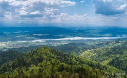 Widok z Lubania na południe