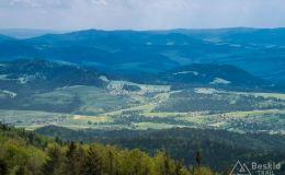 Widok z Lubania na północny-wschód